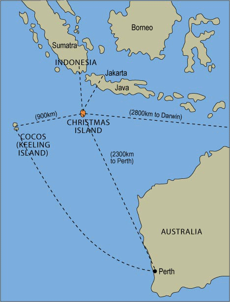 Where Is Christmas Island On A Map.Christmas Island Map Fxund Us